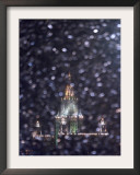 Moscow State University is Illuminated During a Rare Snow Fall This Winter Season Framed Photographic Print