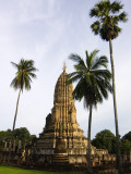 Wat Phra Si Ratana Mahathat Framed by Palms Photographic Print by Austin Bush