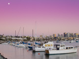 Moonrise and San Diego Skyline at Twilight Photographic Print by Richard Cummins