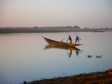 Boys Swimming in Niger River Photographic Print by Sean Caffrey