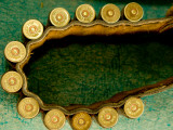 Parwan Province, Shamoli Plains. Belt with Bullets Fotografie-Druck von Stephane Victor