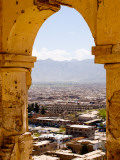 Archway of Old Tomb with City in Background Photographic Print by Stephane Victor