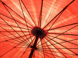 Red Umbrella Photographic Print by Oliver Strewe