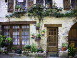House Facade with Flowers in Lot Valley Fotografie-Druck von Barbara Van Zanten