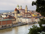 Townscape and Danube River Photographic Print by Aldo Pavan