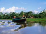 Rio Yanayacu Water Taxi on Nine-Hour Journey Through the Amazon to Iquitos Photographic Print by Anthony Pidgeon