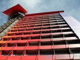 Exterior View of Radical Design Hotel-Hotel Puerta America by Architect Jean Nouvel Photographic Print by Bruce Bi