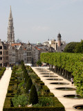 Park of Mont-Des-Arts with Tower of Hotel De Ville in Background. Photographic Print by Bruce Bi