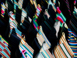 Textiles at Pilgrims Market in Barkhor Area Photographic Print by Bradley Mayhew