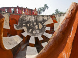 Visitors Exploring Maharajah Jai Singh Ii's Jantar Mantar Observatory, in Sansad Marg Photographic Print by Tim Makins