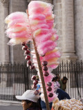 Confectionery Vendor Outside Cathedral, Plaza De Armas Photographic Print by Brent Winebrenner
