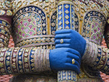 Detail of Viruncamban Statue, Royal Grand Palace, Rattanakosin District, Bangkok, Thailand, Asi Photographic Print by Richard Cummins