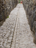 Stonework in Narrow Pedestrian Street, Laid Out in Inca Times Photographic Print by Brent Winebrenner