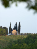 Chapel Amongst Vineyards in Chianti Region Photographic Print by Rocco Fasano