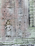 Devata Carving at Preah Khan Photographic Print by Ariadne Van Zandbergen