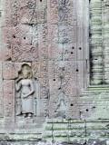 Devata Carving at Preah Khan Photographic Print by Ariadne Van Zandbergen