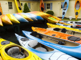 Kayaks for Rent and Sale Photographic Print by Lou Jones