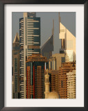 Mosque in front of the Sheik Zayed Twers in Dubai, United Arab Emirates Framed Photographic Print by Kamran Jebreili