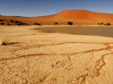 Sossusvlei Filled with Water after Exceptional Rains in 2006, Namib-Naukluft National Park Photographic Print by Ariadne Van Zandbergen
