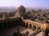 Interior of Mausoleum of Barquq and Cairo Suburbs Photographic Print by Patrick Horton