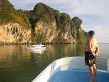 Tourist on Boat on Ao Phang Nga Photographic Print by Austin Bush