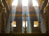 Crosses on Altar in St Peter&#39;s Basilica Photographic Print by Richard l&#39;Anson