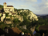 St Cirq Lapopie High on Cliff Overlooking the Lot River Fotodruck von Barbara Van Zanten