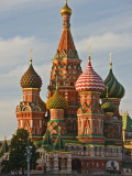 Coloured Walls and Domes of St Basils Cathedral (Pokrovsky Cathedral) in Red Square Photographic Print by Tim Makins