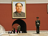 Forbidden City with Mao Portrait and Guard Photographic Print by Wes Walker