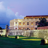 Historic Building Facade and Gardens, Hotel Sofitel Santa Clara Photographic Print by Diego Lezama