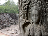 Wall Detail at Angkor Wat Photographic Print by Brian Cruickshank