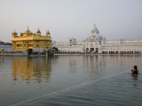 Harmandir Sahib (Golden Temple), Reflecting in the Waters of the Amrit Sarovar Photographic Print by Sean Caffrey