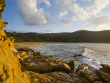 Hawksbury Sandstone in Foreground at Maitland Bay Photographic Print by Manfred Gottschalk