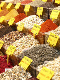 Variety of Teas at Market in Spice Bazaar, or Egyptian Bazaar Photographic Print by Seong Joon Cho