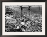 Coney Island View, New York, New York, c.1957 Framed Photographic Print
