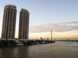 Condominiums Towering over the Chao Phraya River Photographic Print by Austin Bush