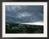 Rain Clouds Hover Over the Skyline of Jammu, India Framed Photographic Print