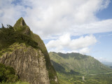 Pali Peak and Koolau Mountains Seen from Nuuanu Pali Lookout Photographic Print by Linda Ching