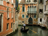 Gondola on Canal in San Marco District Photographic Print by Richard Cummins