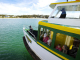 Tom Thumb Iii, the Port Hacking Ferry Leaving, the Bundeena Wharf for Cronulla Photographic Print by Oliver Strewe