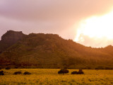 Sleeping Giant (Nounou Mountain) at Sunset Photographic Print by Linda Ching