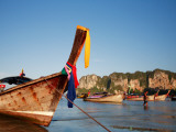 Long-Tail Boats at Railay West Photographic Print by Andrew Bain