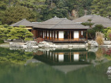 Traditional Japanese Tea House at Ritsurin Park Photographic Print by Seong Joon Cho