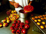 Chef Glazing Beautiful Cakes, Paris Patisserie Francaise Photographic Print by Oliver Strewe