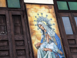Mary and Jesus Religious Mural Next to Catedral De San Juan (San Juan Cathedral) Photographic Print by Rachel Lewis