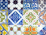 Detail of Antique Portuguese Tiles Photographic Print by Viviane Ponti