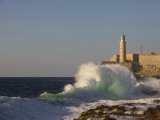 El Morro Castle and Pounding Waves on the Malecon Fotografiskt tryck av Brent Winebrenner