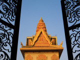 Fine Metal Gates of Wat Ounalom Photographic Print by Antony Giblin