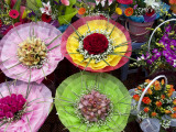 Elaborate Flower Arrangements at Flower Market Stall Photographic Print by Sally Dillon