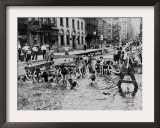 New York City Heatwave, c.1936 Framed Photographic Print